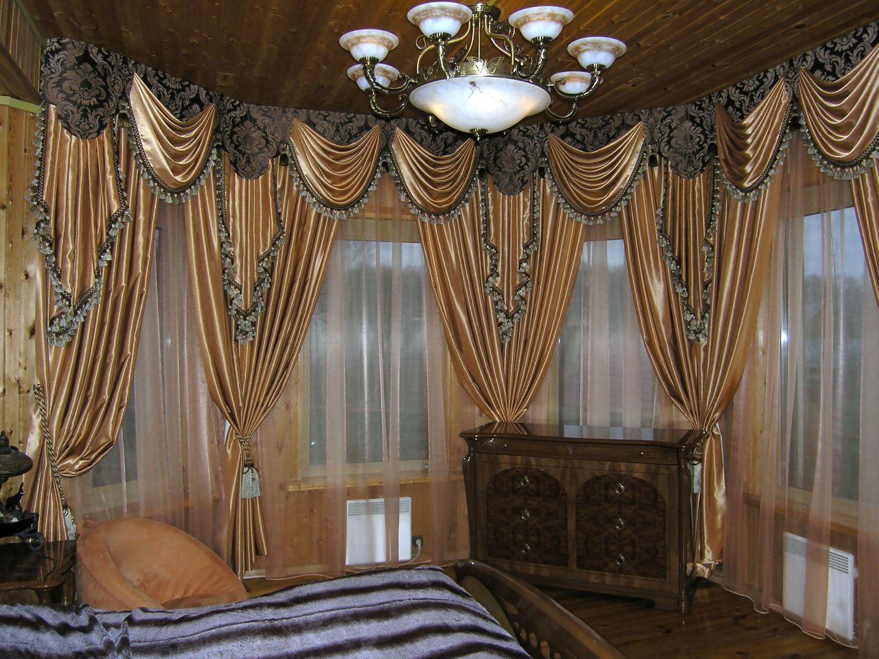 красивые гардины и шторы фото