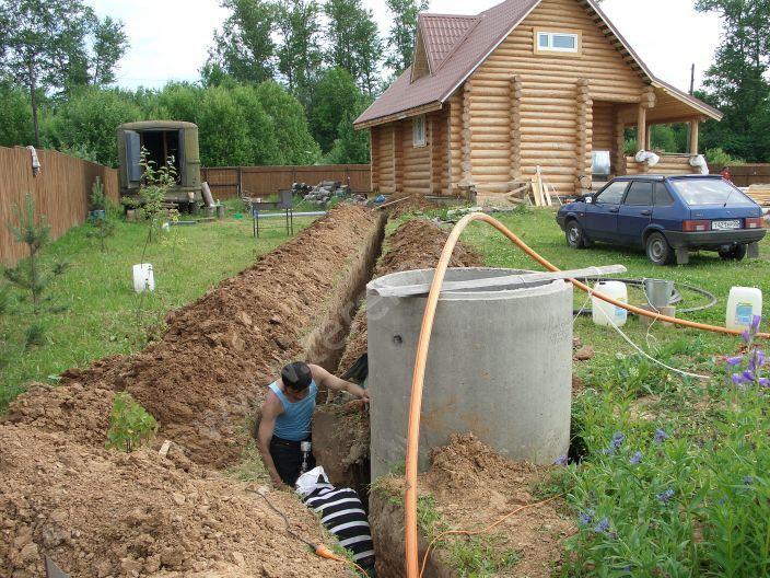 Провести канализацию на даче своими руками фото