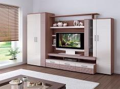 Какую мини-стенку выбрать для гостиной: особенности и критерии