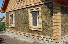 Украшение фасада дома с помощью натурального камня: виды и характеристики