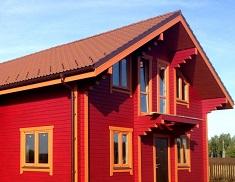 Наружное окрашивание домов из древесины: способы и особенности