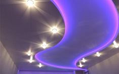 Как установить натяжной потолок с подсветкой: этапы и последовательность работ