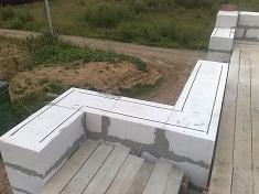 Укладываем прачвильно газосиликатные блоки на фундамент